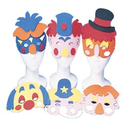 Foam Clown Masks (12/pkg)