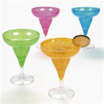 Translucent Neon Margarita Glasses