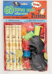 Pirate Theme Loot Bags and Party Favors (60 pcs)