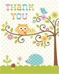 Happy Tree Thank You Cards (8/pkg)