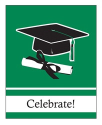 Green Congrats Grad Invitations