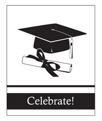 White Congrats Grad Invitations