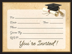 Sophisticated Grad Invitations (8/pkg)