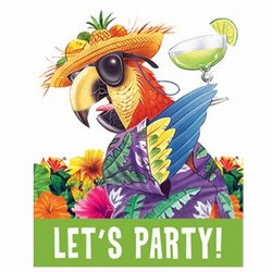 Caribbean Parrot Party Invitations
