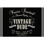 Vintage Dude Invitations ( 8 per package)