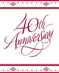 40th Anniversary Invitations (25/pkg)