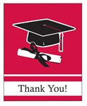 Red Congrats Grad Thank You Cards (25/pkg)