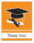 Orange Congrats Grad Thank You Cards (25/pkg)