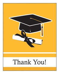 Yellow Congrats Grad Thank You Cards (25/pkg)