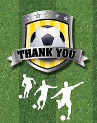 Soccer Party Thank You Notes