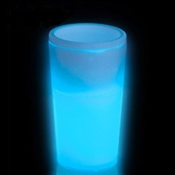 Blue Glow Light Up Shot Glass (1.5 oz)