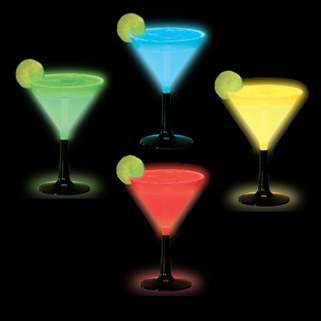 Light Up Martini Glasses