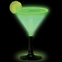 Green Glow Light Up Martini Glass (1/pkg)