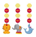 Circus Time! Hanging Cutouts (3/pkg)