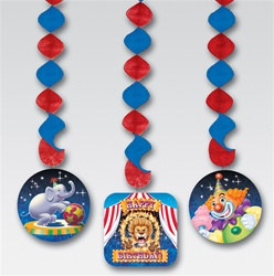Big Top Birthday Danglers (3/pkg)