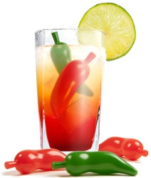 Chilly Peppers Ice Cubes
