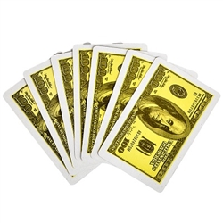 $100 Dollar Bill Playing Cards