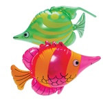 Assorted Inflatable Tropical Fish (1/pkg)