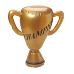 Whether you're celebrating a successful sports season or hosting a sports theme party, this Inflatable Trophy is a champion in its own right! When it's fully inflated, the product measures 16 inches tall. Comes one Inflatable Trophy per package.