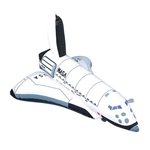Launch the space party into the next galaxy by having this Inflatable Space Shuttle at the party! When fully inflated, the product measures 17 inches and is not recommended for children under 3 years old. Comes one per package.