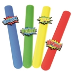 This Hero Slap Bracelet is a great party favor for a hero birthday party because each young superhero can wear one during the day's festivities. Just push on the two ends and you'll have yourself a fashionable hero bracelet. Sold in quantities of 12.