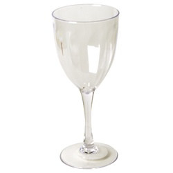 Clear Plastic Wine Glass (1/pkg)