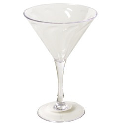 Clear Plastic Martini Glass (1/pkg)