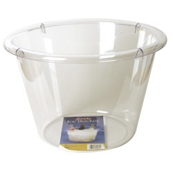 Jumbo Clear Plastic Ice Bucket (1/pkg)