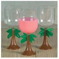 Plastic Palm Tree Stem Glass