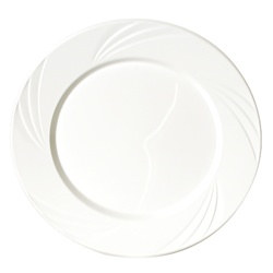 White Plastic Dinner Plate (15/pkg)