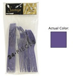 Purple Assorted Plastic Cutlery (24/pkg)