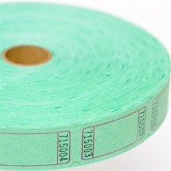 Green Blank Ticket Roll