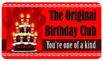 The Original Birthday Club Plastic Pocket Card