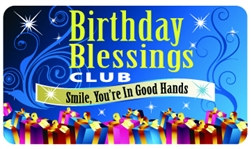 Birthday Blessings Plastic Pocket Card