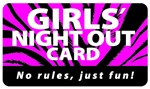 Girls' Night Out Plastic Pocket Card (1/Pkg)