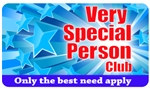 Very Special Person Club Plastic Pocket Card (1/Pkg)