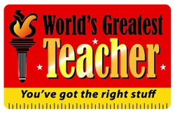World's Greatest Teacher Plastic Pocket Card (1/Pkg)