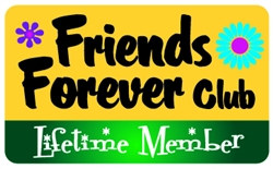 Friends Forever Club Plastic Pocket Card (1/Pkg)