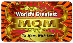 World's Greatest Mom Plastic Pocket Card (1/Pkg)