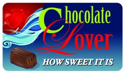 Chocolate Lover Plastic Pocket Card (1/Pkg)