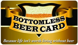 Bottomless Beer Plastic Pocket Card (1/Pkg)