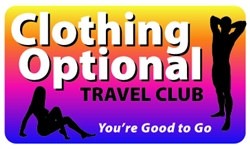 Clothing Optional Travel Club Plastic Pocket Card (1/Pkg)