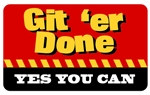 Git 'er Done Plastic Pocket Card (1/Pkg)