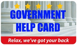 Government Help Plastic Pocket Card (1/Pkg)