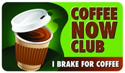 Coffee Now Club Plastic Pocket Card (1/Pkg)