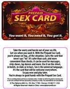 Prepaid Sex Card Pocket Cards