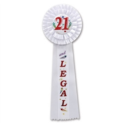 21 and Legal Deluxe Rosette Ribbon