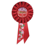 World's Best Mom Rosette Ribbon