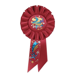 2nd Place Rosette Ribbon