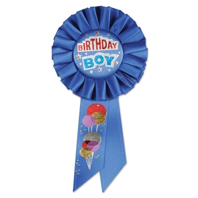 Birthday Boy Rosette Ribbon